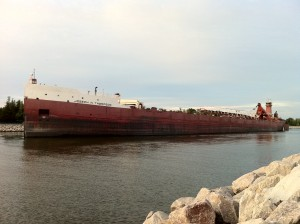 Freighter leaving Muskegon