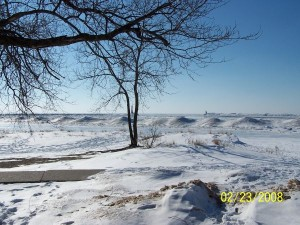 Lake Michigan in the winter.